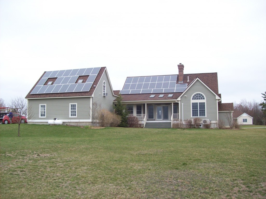 The Tabone solar-powered home in New Hampshire use heat pumps to keep warm all winter and cool in the summer.