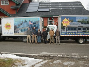 The latest addition is for solar hot water collectors, estimated to produce 160 million BTUs per year, reducing propane needs by 1,700 to 1,900 gallons. The system is currently being installed by Revision Energy from Exeter, NH.