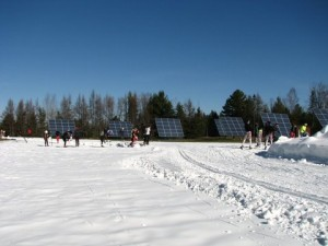 Craftsbury, VT Outdoor Center's 32kW solar array.
