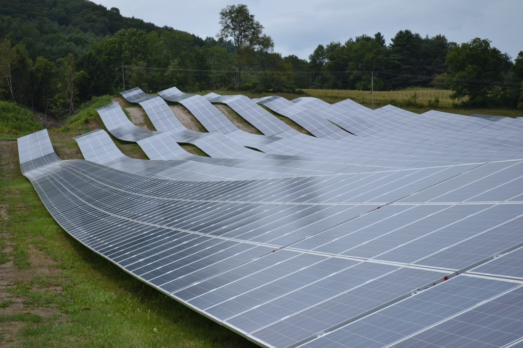 This 3 MW solar farm in Sharon Vermont is the largest in the state, as of 2013. Photo by SayCheeeeeese