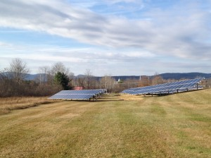 The 140.4kW Solar Center at Rutland Regional Medical Center in November, as construction was wrapping up.