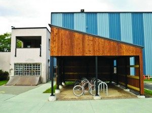 """The Wheelhouse"" is a secure bike shelter with 15 loaner bikes for anyone to use around town."