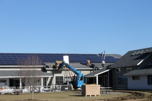 South facing roof of Hilltop Montessori School. The 11.4kW system consists of 192 Hanwha 250W  PV Modules