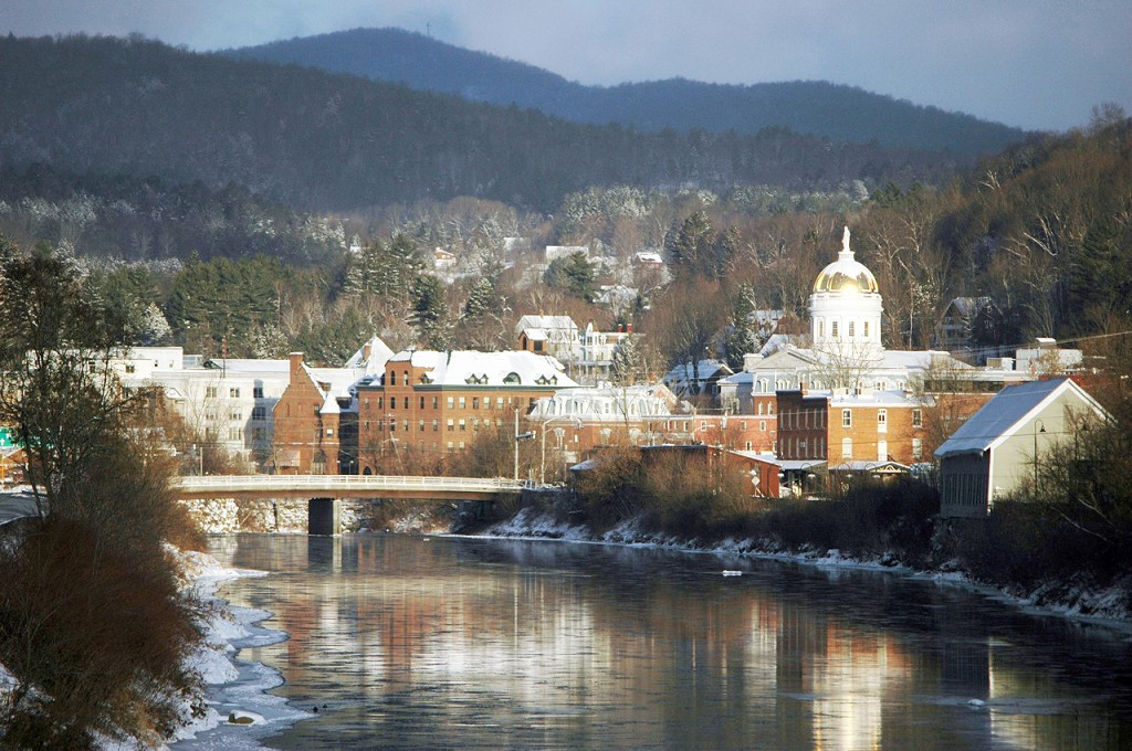Montpelier will be the nation's first state capital where all energy used for heat, electricity, and transportation is produced or offset by renewable sources.  Photo Credit: Flickr VTcity-charlieontheradio.jpg