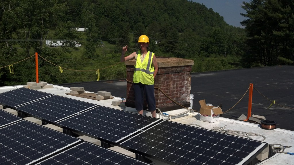 Kim oversees the Hartford Emergency Services building 13kW PV array