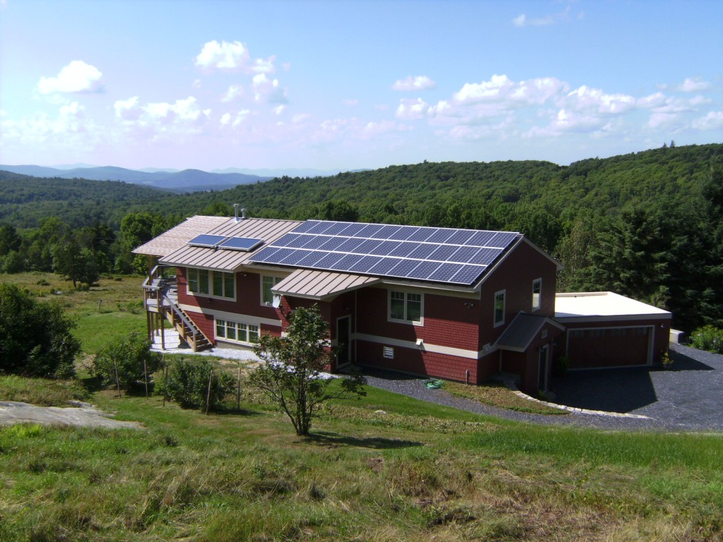Residence in Belmont, Vermont. Photo courtesy of Wright Construction