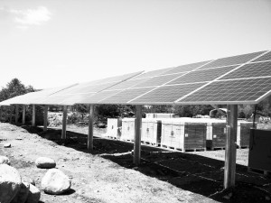 Solar project under construction in North Springfield, Vermont.