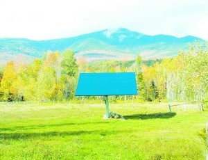 Solar PVs with a New Hampshire mountain view.