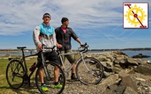 Josh Andrews and Chris Pamboukes of Portsmouth, N.H will begin a 2,000-mile bicycle trek for a solar fundraiser called Pedal for Power on July 14th, 2014. Photo courtesy of Green Alliance.
