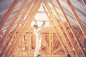 Spray foam insulation is a solid thermal barrier.