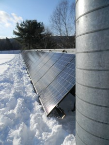 30 kW PV system at Filtrine Manufacturing, Inc., Keene, NH. Photo courtesy of the installer,  Solar Source (Keene, NH)