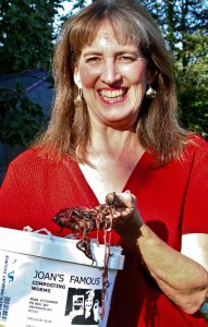 Joan O'Connor has been practicing, preaching and propagating vermicomposting – or using earthworms to convert kitchen food waste into fertilizer – since 1992. Photo: Grace Dunklee Cohen