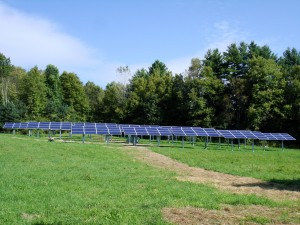 Putney community solar field. Photo by Teal Pulsifer, Soveren Solar