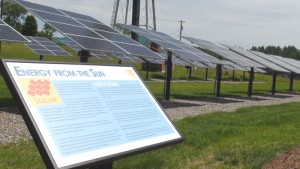 Solar education site at the former CVPS location on Route 7, north of Rutland, Vermont. Photo: flickr/ IBEW Local 300