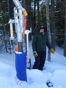 New snow making equipment at Loon Mountain in New Hampshire.