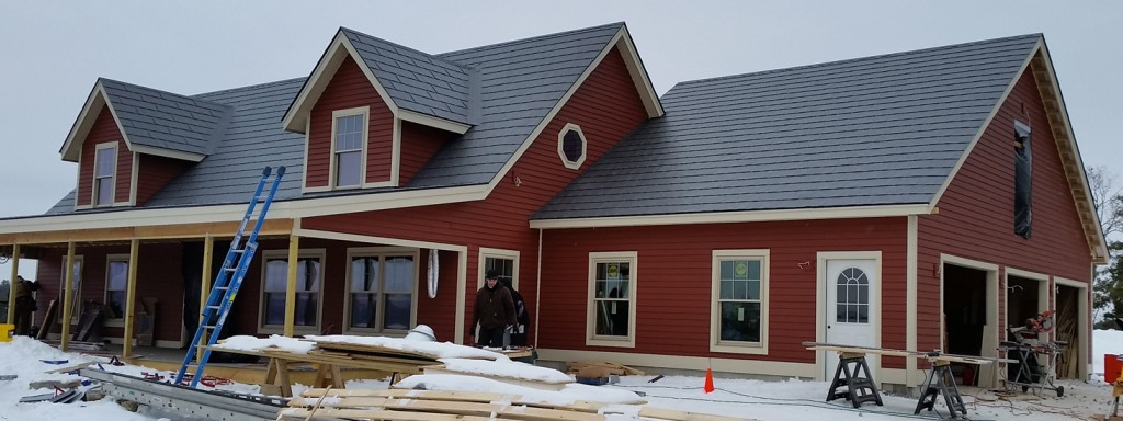 This SIP-constructed home was built with structurally Insulated panels, for a highly insulated building envelope.