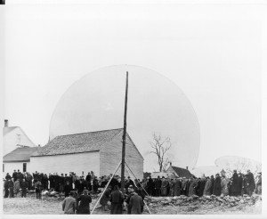 The NHEC's first pole setting on December 4, 1939 in Lempster, NH.