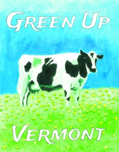 2015 Green Up Vermont winning poster design by Chloe Boyce, grade 11, Montpelier High School. Photo Courtesy of Green Up Vermont.