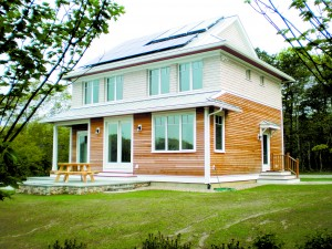 Falmouth Passive House, designed by the author, the second Certified Passive House in MA. Photo Credit: Steve Baczek, Architect of the project.