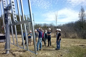 SUNY students visit a dual-axis tracking installation SolarWorksSchoharie. Photo by Revolution Solar.