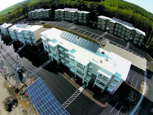 All of the energy use at netZero Village comes from the sun. Photo courtesy of David Bruns.