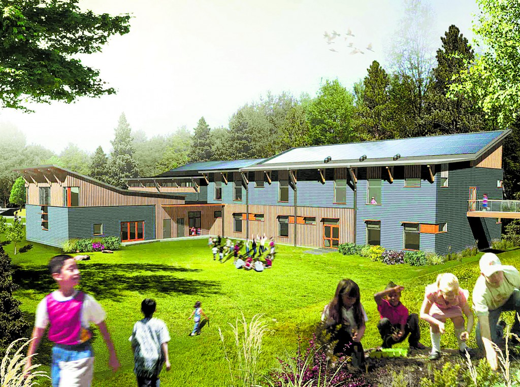 Artist's rendering of the completed Friends School of Portland.