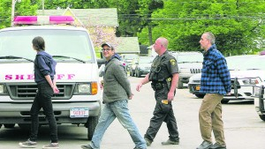 Josh Fox and Lee Zeische were arrested protesting fracked gas storage in salt caverns under Seneca Lake. Photo courtesy of 'We Are Seneca Lake.'