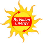 ReVision Energy sun logo png file