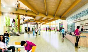 Artist's rendering of lobby.