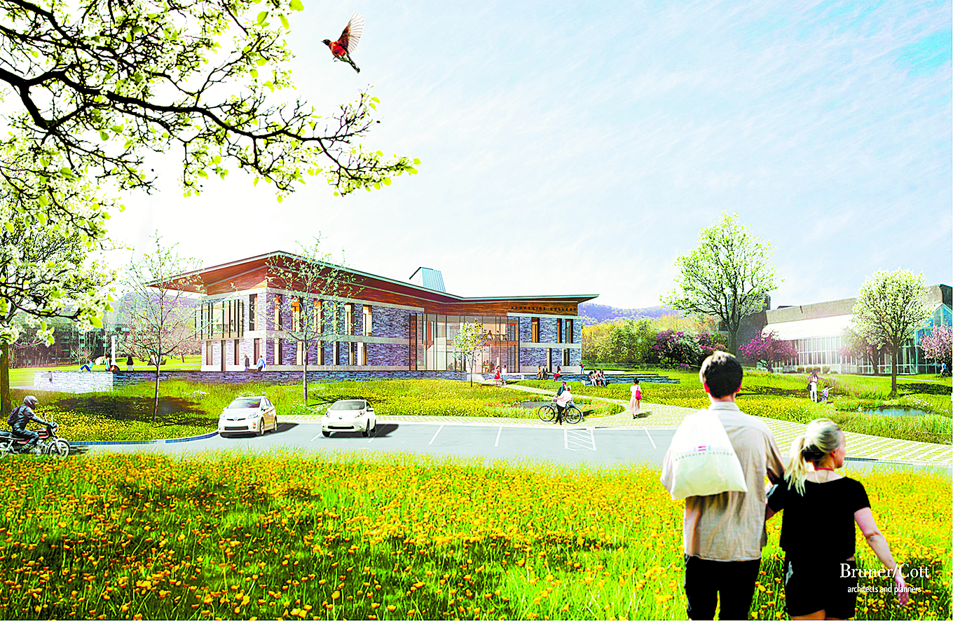 Artist's rendering of the Kern Center. Courtesy of Wright Builders.