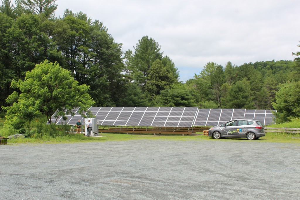The 40kW system is providing power and a lasting legacy for the campus at Crossroads Academy in Lyme, NH. Photo courtesy of Kim Quirk, the owner of Enfield Energy Emporium and the installer for this solar project.