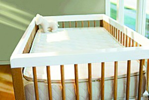 "Due to increased consumer awareness and demand, there are more ""green"" choices in furniture available than ever before. Pictured is a Savvy Rest organic crib mattress distributed by Furnature. Photo courtesy of Savvy Rest"