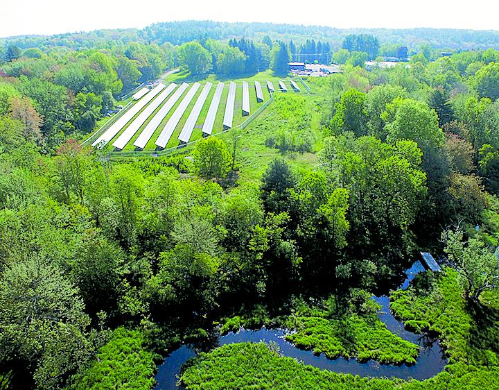 The 550 kW Harvard Community Solar Garden is the first shareholder-owned solar garden in Massachusetts . Photos courtesy of Steven Strong, president of Solar Design Associates.