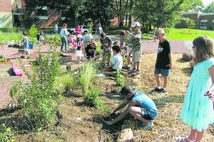 Planting and tending a schoolyard garden is a hands-on way for students to learn about sustainability, the environment and healthy food choices. Credit: Gottfried not Bouillon, FlickrCC