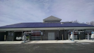 Rooftop solar photovoltaics at Davidson Chevrolet in Watertown, New York.