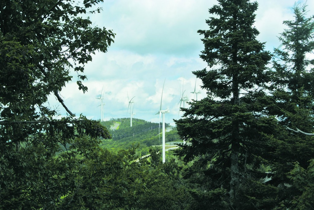 Kingdom Community Wind in Lowell, Vermont. Photo courtesy of Green Mountain Power.
