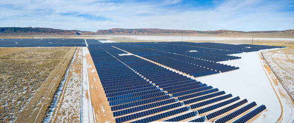 Utah's first utility-scale solar plant. (Mike Saemisch, Scatec)