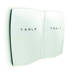 Tesla's new lithium-ion batteries. Photo courtesy of GMP