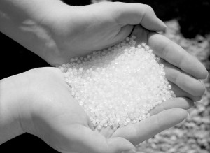 Micro-bead nurdles. Photo from Wikipedia.