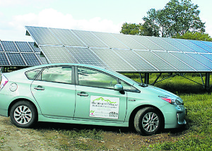 West Hill House B&B owns 26% of the array totaling just under 30kW peak power, meeting 100% of their electric power needs