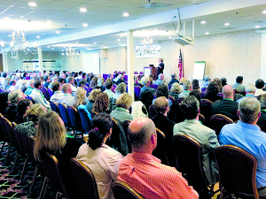 Chicago area Realtor® Laura Reedy Stukel, delivers an inspiring Keynote presentation to 225 realtors, lenders, appraisers, builders, and home performance contractors from VT and NH at the Green Real Estate Symposium at the Lake Morey Resort in Fairlee, VT last October.
