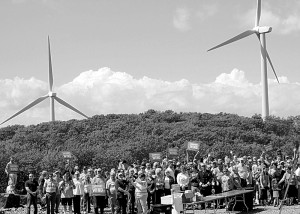 Hundreds attend one of the open house events held annually each year to learn about local renewable energy. Courtesy Photo.