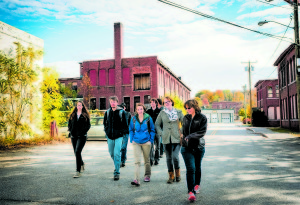 Colby-Sawyer students conducted research and provided sustainable recommendations to the City of Franklin on four areas of their Master Plan: Waste/Recycling, Water Management, Transportation, and Energy. All photos courtesy of Colby-Sawyer College