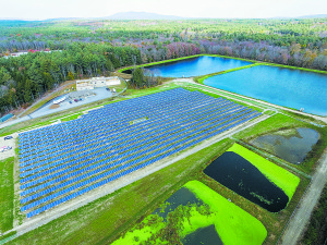 This 944-kW solar farm serving Peterborough, NH went online early November, 2015 . Courtesy photo