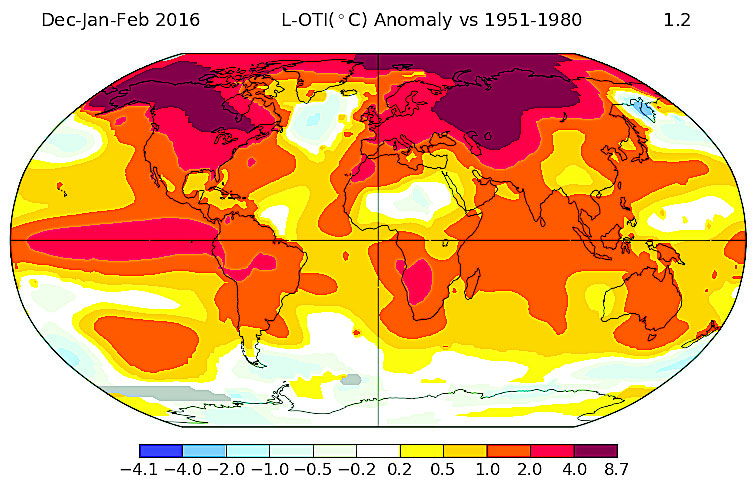 Difference map of mean 2015-2016 winter temperatures from the global climatology for 1951-1980 from NASA-GISS (downloaded from http://data.giss.nasa.gov/gistemp/maps/)