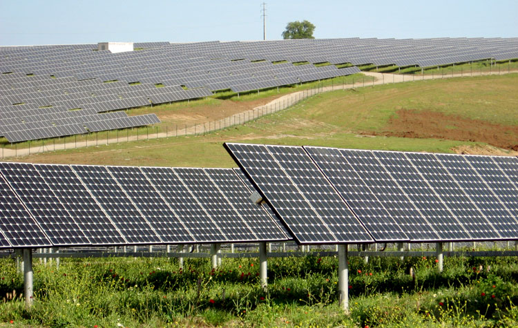A large photovoltaic power project, the Serpa solar power plant, in Portugal, one of Europe's sunniest areas. Photo credit: Wikipedia