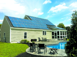 A home in Devens, MA that produces much more energy than the homeowners consume.
