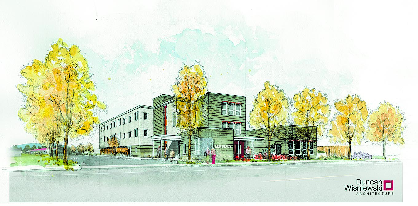Artist Rendering of Elm Place. Courtesy of Duncan Wisniewski Architecture