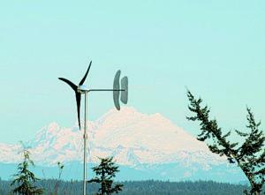 Pika Energy's T701 wind turbine on a hillside near Rutland, Vermont