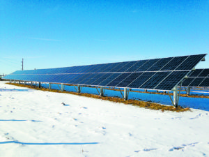 An Encore ground mount solar array project, similar to the ones to be constructed for BHA. Photo courtesy of Encore Renewable Energy.